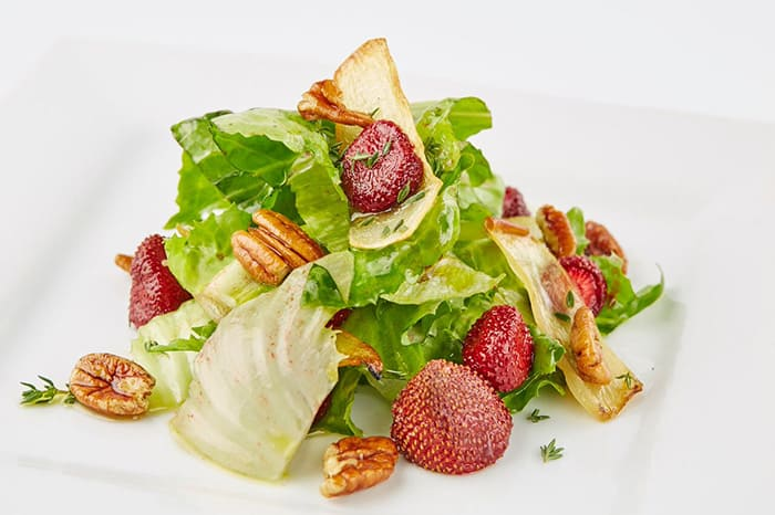 Escarole Roasted Strawberries