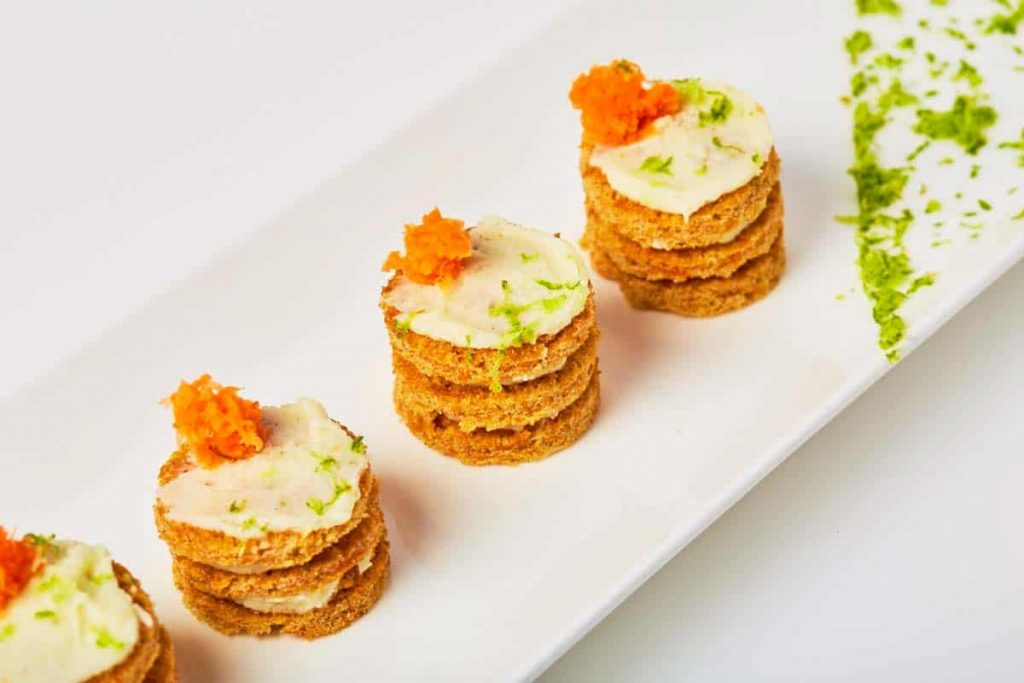 etite carrot cake with lime cream cheese frosting