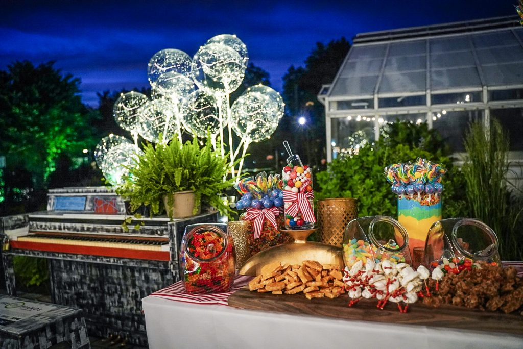 Catered candy and treats at event