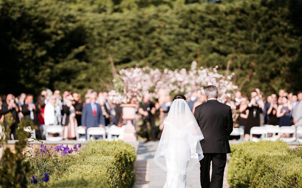 bride & father walking